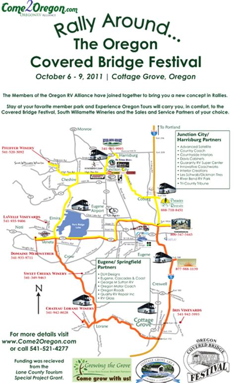 covered bridges oregon map rally around
