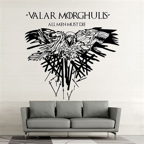 game of thrones valar morghulis vinyl wall art decal