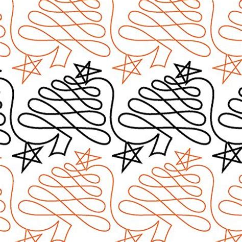 christmas pattern lines continuous line christmas stencil qulting designs
