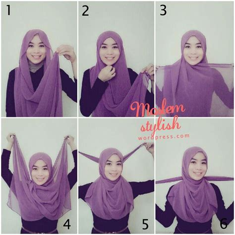 tutorial hijab simple sehari2 simple but nice maybe just takes 3 minutes proud