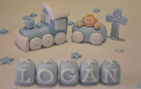 Handmade Edible Cake Toppers - details about handmade edible baby boy christening