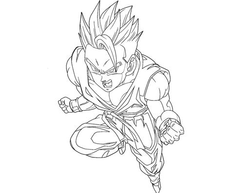 Free Gohan 2 Vs Cell Coloring Pages Gohan Coloring Pages
