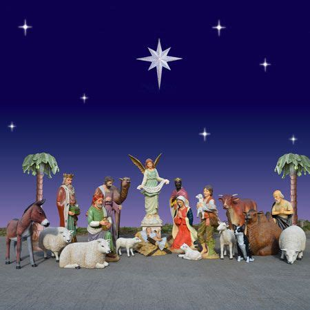 where to get life nativity set 1000 images about size nativity sets on
