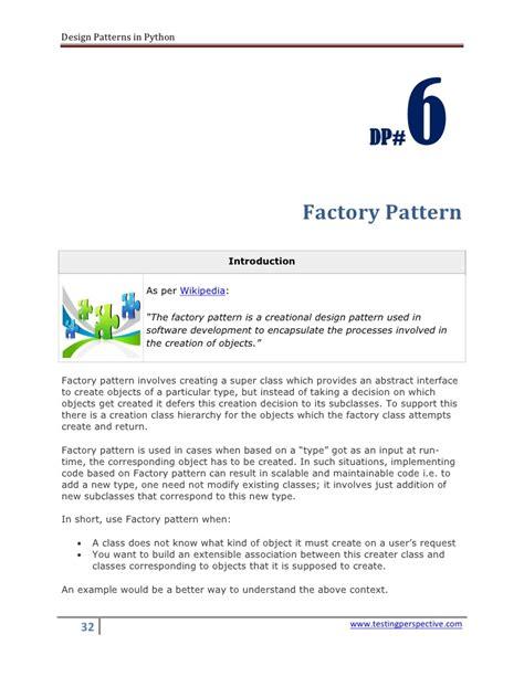 design pattern exles python design patterns in python v0 1