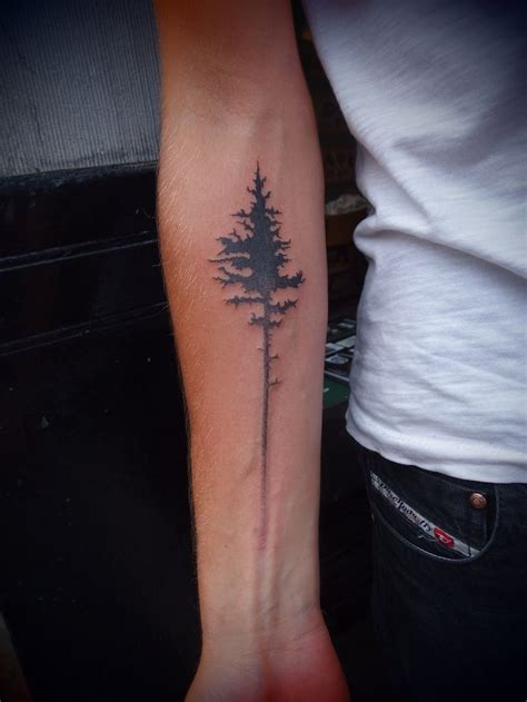 simple tree tattoo pine tree tattoos pine pine tree