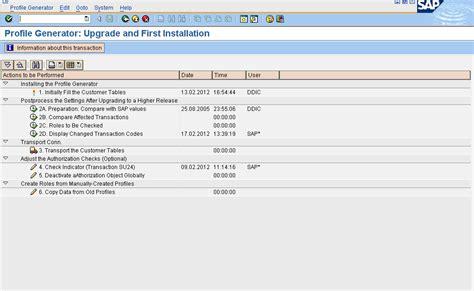 sap user tutorial sap security tutorial su25 profile upgradation