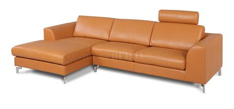 camel leather sectional angela sectional sofa in camel leather by whiteline imports