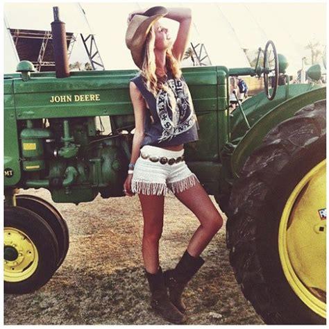 girls on john deere tractors she s a john deere girl country girl style pinterest