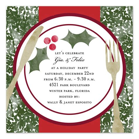 christmas dinner invitation template free holiday dinner