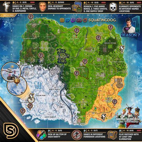 fortnite week 7 challenges fortnite sheet map for season 7 week 1 challenges