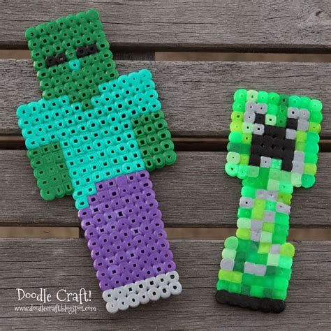 minecraft perler 1000 images about easy hama bead patterns on