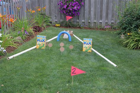 backyard mini golf game outdoor fun backyard mini golf course 183 kix cereal
