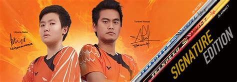 Raket Badminton Victor Js 12 Liliyana Natsir Grade Ori 1 world chions natsir ahmad beam with victor js natsir l