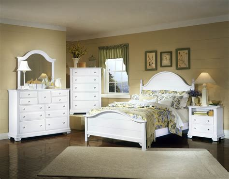 vaughan basset cottage collection panel bedroom set  snow white