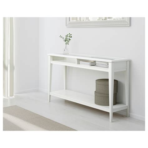 Console Ikea by Liatorp Console Table White Glass 133x37 Cm Ikea