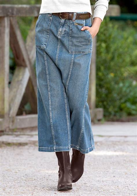 eddie bauer jeansrock lang  kaufen otto