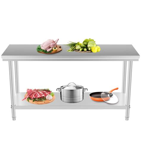 Stainless Kitchen Prep Table Stainless Steel Commercial Kitchen Work Food Prep Table 24 Quot X 48 Quot New Ebay