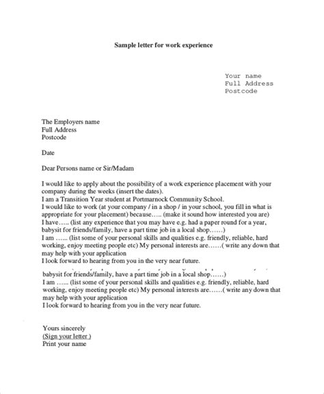 Request Letter For Experience Certificate application for experience letter pdf