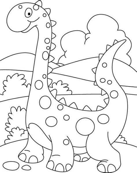 printable coloring pages kindergarten dinosaur coloring pages for preschoolers 01 colored