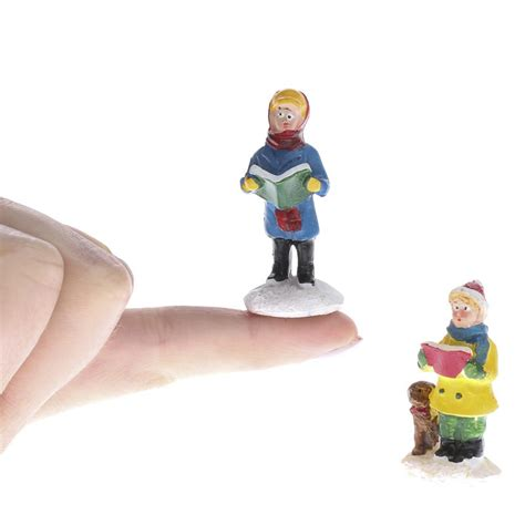 miniature caroler village figurines christmas miniatures