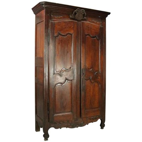 french provincial armoire wardrobe 18th century antique french provincial hand carved walnut