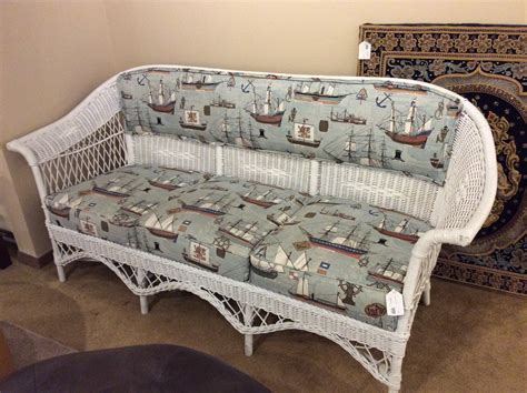 nautical sofa nautical wicker sofa ballard consignment
