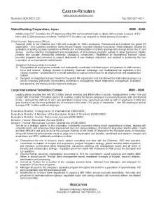 resume sle 17 human resources resume career resumes
