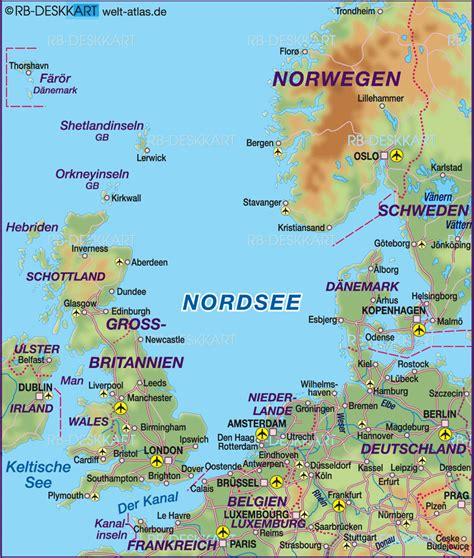karten de nordseeinseln deutschland karte