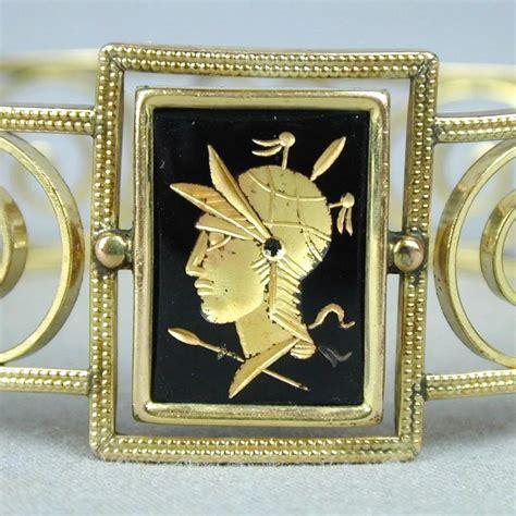 vintage simmons gold filled deco deco gold filled simmons venetian bracelet w glass