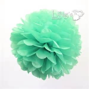 mint colored flowers multicolour paper flowers pom wedding new homes decoration