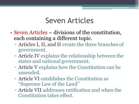 7 sections of the constitution chapter 3 the u s constitution ppt download
