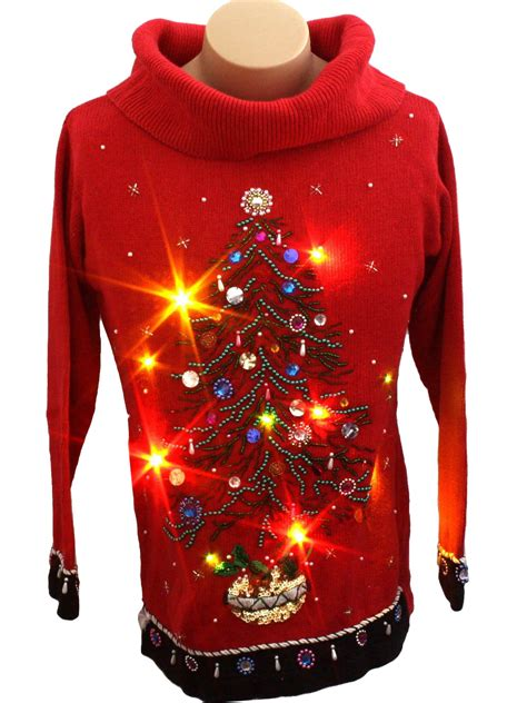 womens light up ugly christmas sweater victoria jones