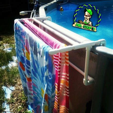 towel racks for pool a new towel rack table for our pool pool pvc diy