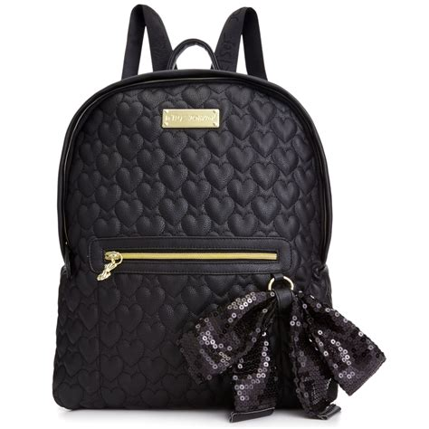 Betsey Johnson Quilted Backpack by Betsey Johnson Quilted Backpack In Black Lyst