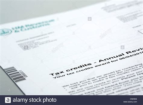 Hmrc Tax Credit Award Letter tax credits paperwork stock photo royalty free image