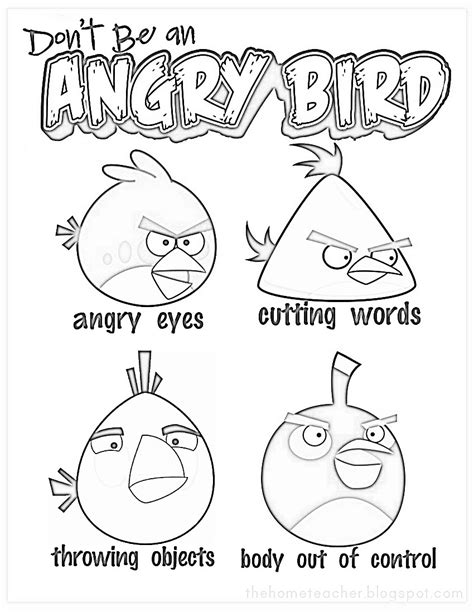 angry birds anger management worksheets don t be an angry bird anger management for kids