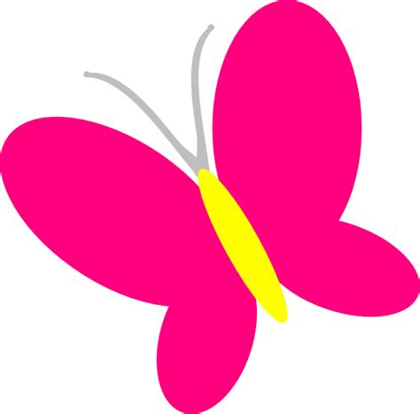 butterfly clipart pink butterfly clip at clker vector clip