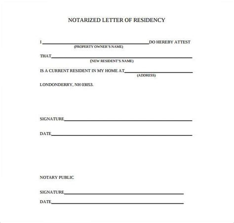 notarized letter template premium