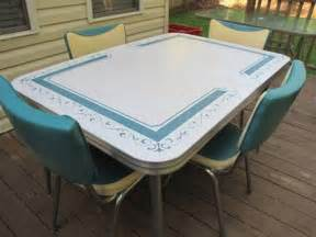 400 vintage kitchen formica table 4 chairs turquoise for sale in