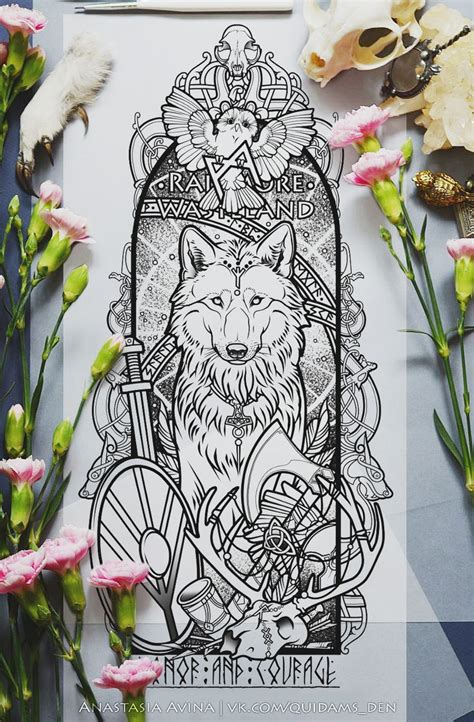 odins wolves tattoo www imgkid com the image kid has it