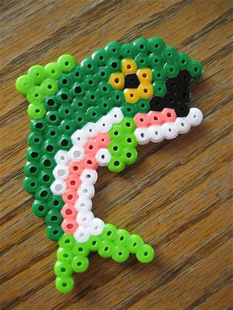 hama bead fish designs perler bead bass fish scissors and glue