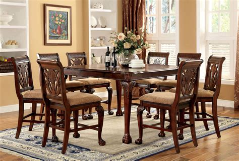 9 piece counter height dining room sets 9 piece petersburg counter height dining set in cherry finish