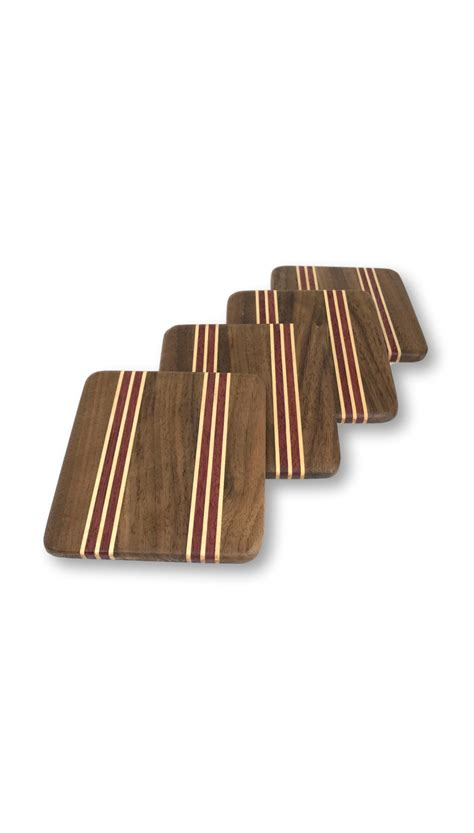 Handcrafted Wood Items - handcrafted wood coasters