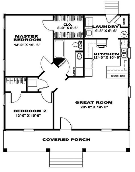 house plan 99971 cottage vacation plan with 598 sq ft 14 best 20 x 40 plans images on pinterest cabin plans