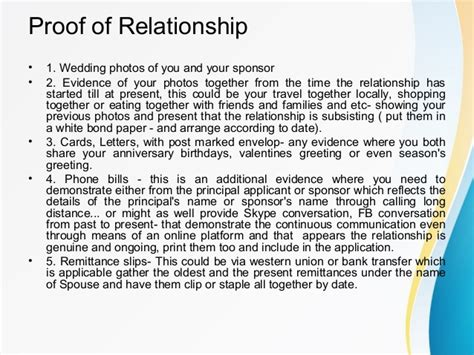Relationship Support Letter For Immigration spouse or partner sponsorship in canada