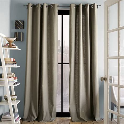 cotton grommet curtains linen cotton grommet curtain west elm