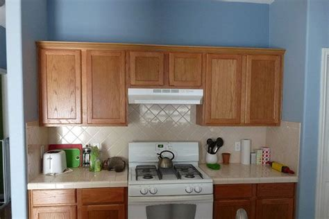 Blue Kitchen Walls With Brown Cabinets Cabinets Wood And Light Blue Walls Kitchen With Sky Blue Walls Light Brown Wooden