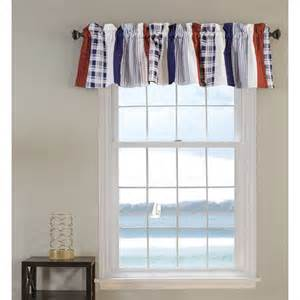 nautical window valance greenland home fashions nautical stripe quilted window
