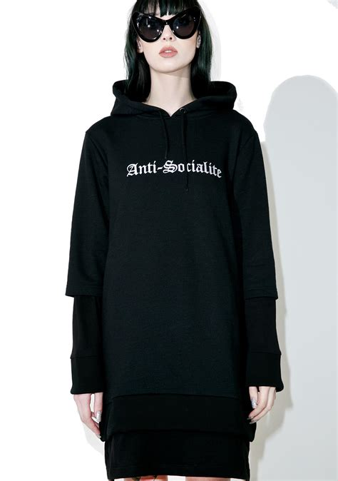 Hoodie Anti disturbia anti socialite hoodie dress dolls kill
