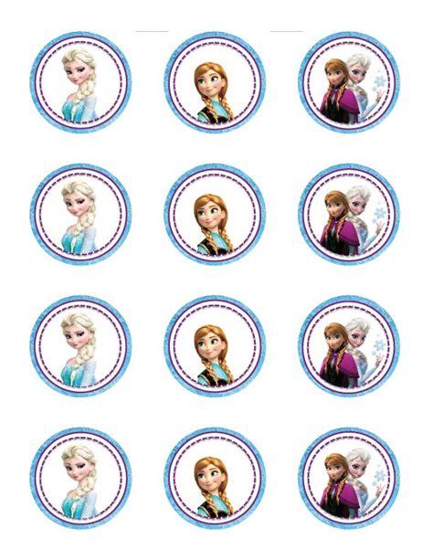printable frozen theme frozen themed cupcake toppers free printable pdf http